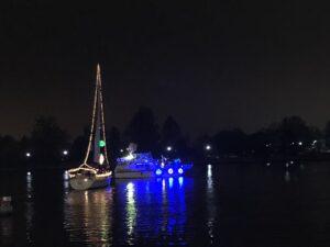 boatlift, gangplank, parade of lights