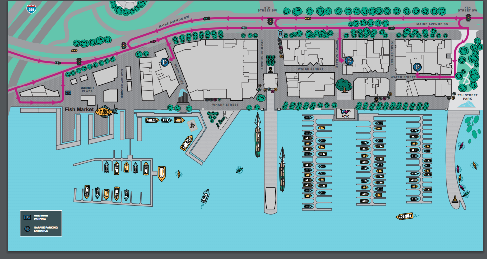 Wharf parking map