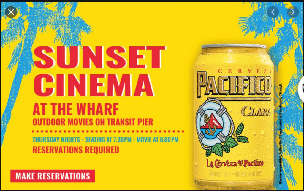 Sunset Cinema Returns to Wharf